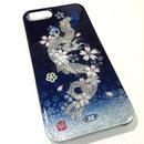 iPhone5/5Sケース 夜桜・三日月・昇龍