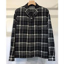 WOOL FLANNEL CHECK OPEN COLLAR SHIRTS