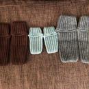 コンパクトに折りたたみできる畝編みルームシューズ