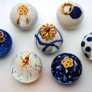 【青の炎 / blue de grand feu シリーズ】 ポーセリアンボックス(磁製小箱) / porcelain box
