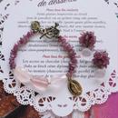 ブレスレット&ピアスセット pinkpink bp-2601