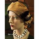 イギリス製上質生地のクラシカルベレー帽