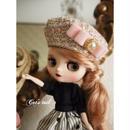 ミディサイズ・イタリア製ツイードのベレー帽