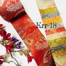 京都 金襴リボン 赤に扇と波紋