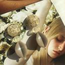 耳飾りWater flower =halfcube S 239 =