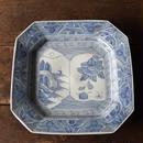 antiques 染付 9寸 八角皿(キズもの)
