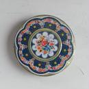 antiques   青い花柄の缶