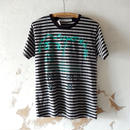 takuroh shirafuji YES,  Remake Border T-shirts(One off)