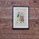 antiques  手をつなぐ男女の絵①