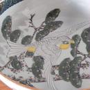 古道具 九谷 青粒  絵付 中鉢(6.5寸)