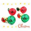 ビジュー カラーボール スタッド ピアス クリスマス *:..。O○☆ レディース アクセサリー:PKS151010(S)