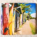 《ALOHA LIVE LIKE Collection》マグネットタイプ手帳型カバー-Paia Surf Town-
