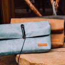 Roll Leather Clutch Bag 3 Colors
