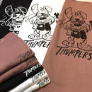 THUMPERS  NYC STP MASCOT S/S TEE (LIGHT PINK, WHITE, BLACK)