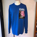 LONELY論理 GIRL L/S TEE (BLUE)
