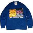 ATTACK ORIGINAL HAVE YOU EVER SEEN? CREW NECK SWEAT (BLUE)