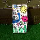 peace刺繍スマホケース(iPhone6Plus/6sPlus,7Plus/8Plus用)