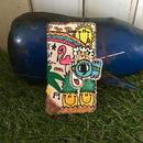ハワイアンコウノトリ刺繍スマホケース(iPhone5/5s、SE用)