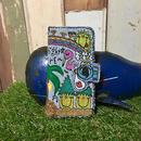 ハワイアンコウノトリ刺繍スマホケースデニムVer.(iPhone6Plus/6sPlus,7Plus/8Plus用)