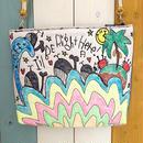 レインボーwaveクジラ刺繍ショルダー