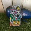 ハワイアンコウノトリ刺繍スマホケースデニムVer.(iPhone6/6s,7/8,X用)