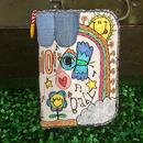 フラミンゴ&コウノトリ刺繍母子手帳(マルチ)ケース