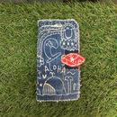 デニム刺繍スマホケース(iPhone6Plus/6sPlus、7Plus/8Plus用)