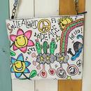 フラワースマイル刺繍ショルダー