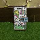コウノトリ刺繍スマホケース(iPhone6/6s,7/8,X用)