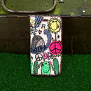peace刺繍スマホケース(iPhone6/6s,7/8,X用)