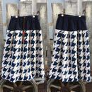 デカボア千鳥柄スカート