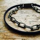 APHRODITE for men  革平紐とチェーンのアンクレット