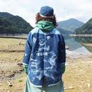 【on sashiko】OMA overdrawing 刺し子ガウン 01 熊 bear