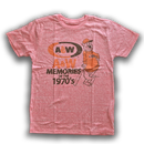 A&WヴィンテージTシャツ:レッド