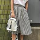 ストライプひらひらスカート 【¥5,390→¥569】
