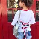 トリコロールリボンTシャツ