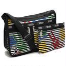 レスポートサック (Le Sport sac) Deluxe Everyday Bag デラックスエブリディバッグ斜め掛けショルダーバッグ7507 P822ブラックマルチカラー