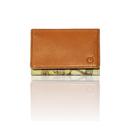 "made in Ryogoku ""粋"" HOKUSAI  Card case   (Natural Brown)"