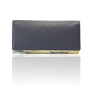 "made in Ryogoku ""粋"" HOKUSAI  Long Wallet  (deep blue)"