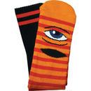 "Toy Machine / ""Sect Eye Stripe Sock"" Orange / Red"