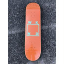 "WKND / ""Logo Deck"" Orange 8.0inch"