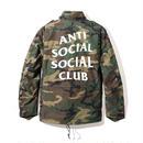 ANTI SOCIAL SOCIAL CLUB  アンチソーシャルクラブ ASSC ×ALPHA INDUSTRIES  Defender Jacket Dark Camo -1color-
