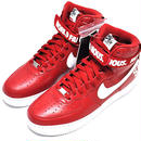 NIKE × SUPREME    AIR FORCE 1 HIGH RED US9.5