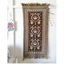 ヤノフ村の織物 タペストリー 幾何学的な伝統の花(45×93cm)#2126