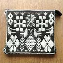 ヤノフ村の織物 ポーチ 鳥と幾何学模様 #1265