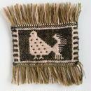 ヤノフ村の織物 コースター 鳥(14×9cm)
