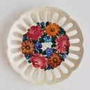 ヴウォツワヴェク陶器 飾り皿(直径17.5m)#3385