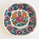 ヴウォツワヴェク陶器 角皿(18.5cm四方)#3534