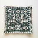 ヤノフ村の織物 クッションカバー 鹿と鳥と幾何学模様(33×33cm) #1624