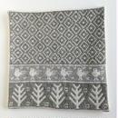 ヤノフ村の織物 クッションカバー 鳥と幾何学模様(37×37cm) #2076
